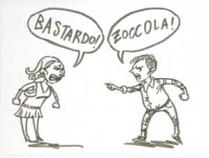 insultare, offendere